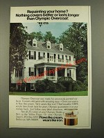 1979 Olympic Overcoat Paint Ad - Nothing Covers Better or Lasts Longer
