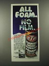 1980 STP Foaming Engine Degreaser Ad - All Foam. No Film.
