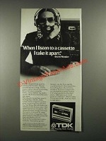 1980 TDK Cassette Tapes Ad - Stevie Wonder