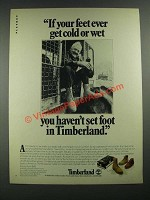 1980 Timberland Boots Ad - If Your Feet Ever Get Cold or Wet