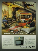 1980 Pye Televisions Ad - Best Set in the Kids' Bedroom