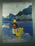 1981 Canadian Mist Whisky Ad - Canada At Its Best