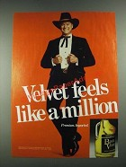 1981 Black Velvet Whisky Ad - Larry Hagman