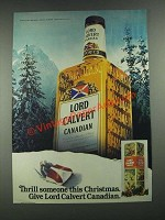 1981 Lord Calvert Canadian Whisky Ad - Thrill Someone