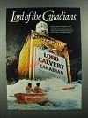 1982 Lord Calvert Canadian Whisky Ad