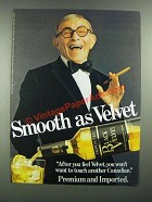1982 Black Velvet Whisky Ad - George Burns
