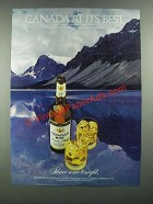 1982 Canadian Mist Whisky Ad - Canada