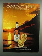 1982 Canadian Mist Whisky Advertisement - Canada At Its Best
