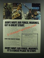 1982 U.S. Armed Forces Ad - Get a Great Start