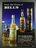 1982 Bell's Scotch and Dufftown Scotch Ad