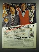 1982 Boodles British Gin Ad - Win the Let's Boodle Sweepstakes