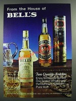 1983 Bell's Scotch and Dufftown Scotch Ad - From the House of Bell's