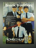 1983 Ronrico Rum and Canada Dry Tonic Water Ad