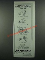 1984 Janneau Aragnac Brandy Ad - What's the Best Shape