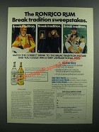 1984 Ronrico Rum Ad - Break Tradition Sweepstakes