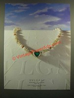 1988 Bvlgari Bulgari Necklace Jewelry Ad