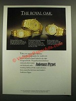 1988 Audemars Piguet Royal Oak Watches Ad