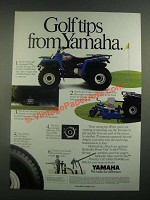 1988 Yamaha Terrapro PTO ATV Ad - Golf Tips from Yamaha
