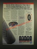 1988 Metzeler Motorcycle Tires Ad - Those Who Demand The Most