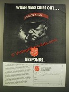 1988 The Salvation Army Ad - When Need Cries Out
