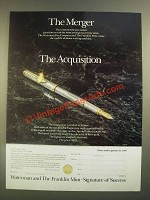 1988 Franklin Mint Waterman The Signature Pen Ad - The Merger