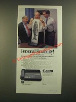 1988 Canon Faxphone 20 Ad - Personal Faxability