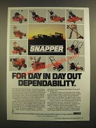 1988 Snapper Power Equipment Ad - Dependability
