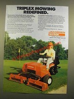 1988 Jacobsen Textron 1671D Mower Ad - Triplex Mowing Redifined