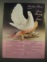 1988 Boehm China Fan-Tailed Dove Ad - Love Beauty and Peace