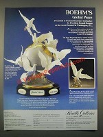 1988 Brielle Galleries Ad - Boehm Global Peace Porcelain Sculpture