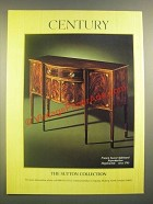 1988 Century Furniture Ad - Sutton Francis Seaver Sideboard Reproduction