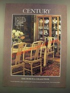 1988 Century Furniture Ad - Sobota Glass top Dining Table, chairs, China