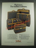 1988 Hartmann Mountain Blue Tweed and Smokey Blue Packcloth Luggage Ad