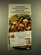 1988 Swanson Premium Chunk Turkey Ad - Turkey-Apple Salad recipe