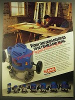 1988 Ryobi Router Ad - Work This Good Deserves to be Framed and Hung