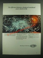1988 Du Pont Windshields Ad - Difference Between a Shattered Life