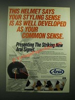 1988 Arai Signet Helmet Ad - Your Styling Sense is as Well Developed
