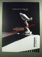 1988 Rolls-Royce Cars Ad - Live All You Can It's A Mistake Not To