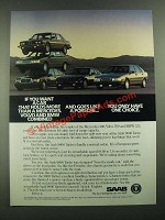 1988 Saab 9000 Turbo Ad - Holds More Than a Mercedes, Volvo and BMW