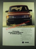 1988 Saab 900 Car Ad - At Any Price Is An Intelligent Car