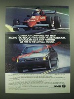 1988 Saab 9000 Turbo Ad - Put Their Racing Technology Into