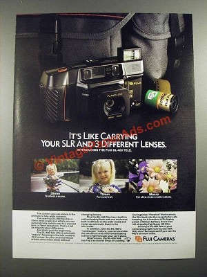 1988 Fuji DL-400 Tele Camera Ad - It's Like Carrying Your SLR and Lenses