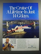 1988 Princess Cruises Ad - Gavin MacLeod - In Just 14 G'days