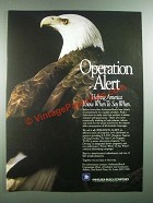 1988 Anheuser-Busch Beer Ad - Operation Alert