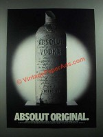 1988 Absolut Vodka Ad - Absolut Original