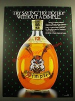 1988 Haig Dimple 12 Year Old Scotch Ad - Try Saying Ho! Ho! Ho!