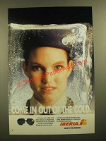1988 Iberia Airlines Ad - Come in Out of the Cold