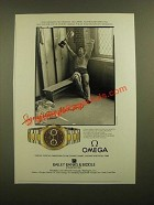 1988 Omega Seamaster Watch Ad - No Crowds, No Cheers