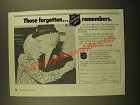1988 The Salvation Army Ad - Those Forgotten