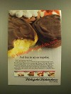 1988 Weight Watchers Desserts Ad - Feel Free to Act on Impulse